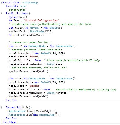 simple diagram vb code